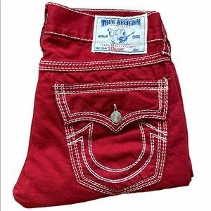 Men's True Religion World Tour Rebel Red Jeans